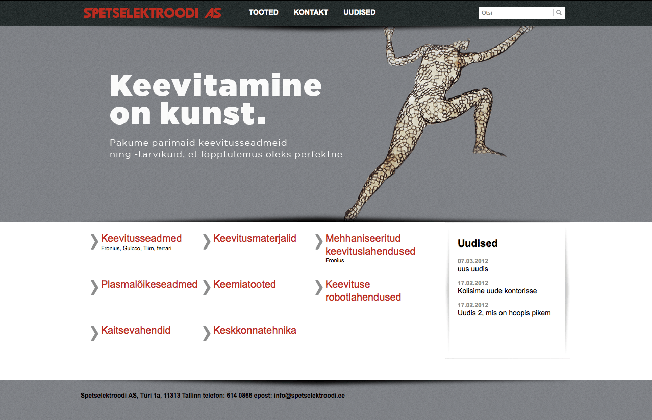 Spetselektrood website